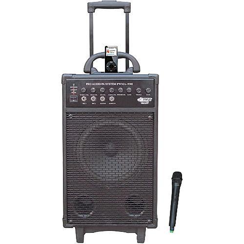 Pyle Pro PWMA930I 600W VHF Wireless Battery Powered PA System W/ iPod Dock