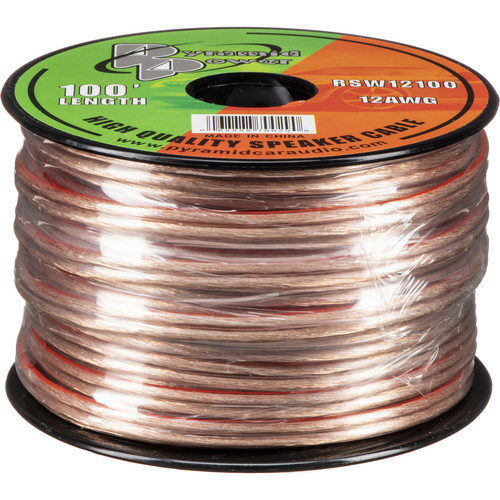 Pyramid High Quality 12 Gauge Speaker Zip Wire (100' Spool)