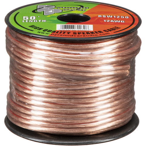 Pyramid High Quality 12 AWG Speaker Zip Wire (50' Spool)