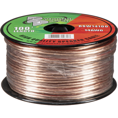 Pyramid High Quality 14 Gauge Speaker Zip Wire (100' Spool)