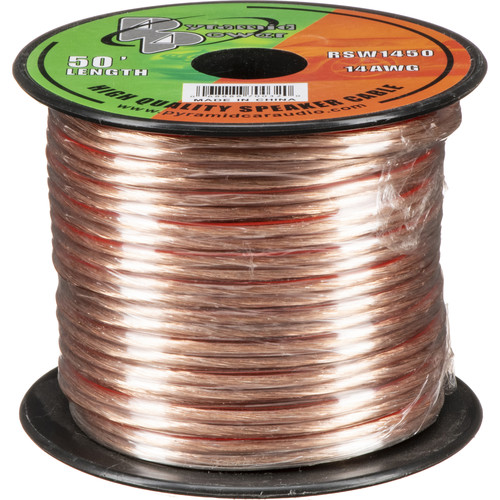 Pyramid High Quality 14 AWG Speaker Zip Wire (50' Spool)