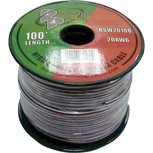 Pyramid High Quality 20 Gauge Speaker Zip Wire (100' Spool)
