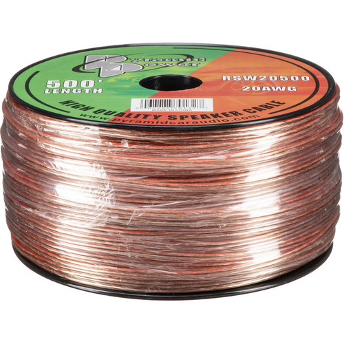 Pyramid High Quality 20 Gauge Speaker Zip Wire (500' Spool)