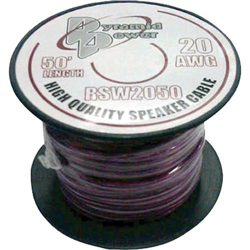 Pyramid High Quality 20 Gauge Speaker Zip Wire (50' Spool)