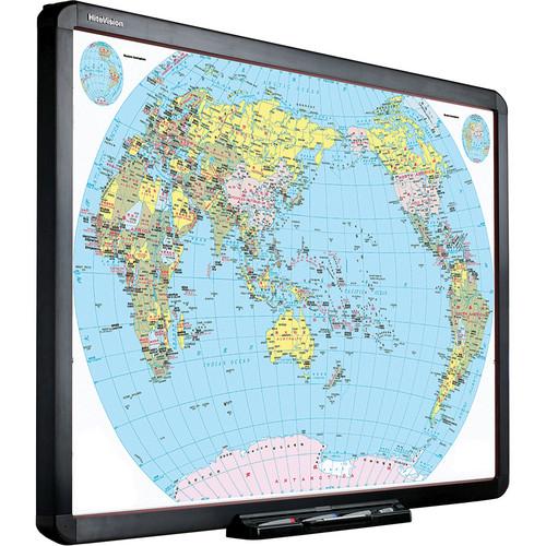 "QOMO HiteVision 100"" Interactive Whiteboard w/ Flow!Works & EasiTeach Starter Software"