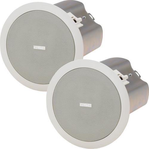 "QSC AD-CI52T 5.25"" Weather-Resistant 70/100V In-Ceiling Loudspeaker (Pair)"