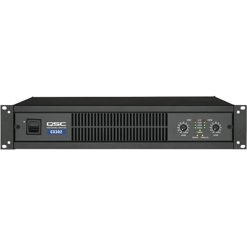 QSC CX-302 2-Channel Direct Output Power Amplifier (200 W, 8 &#8486)