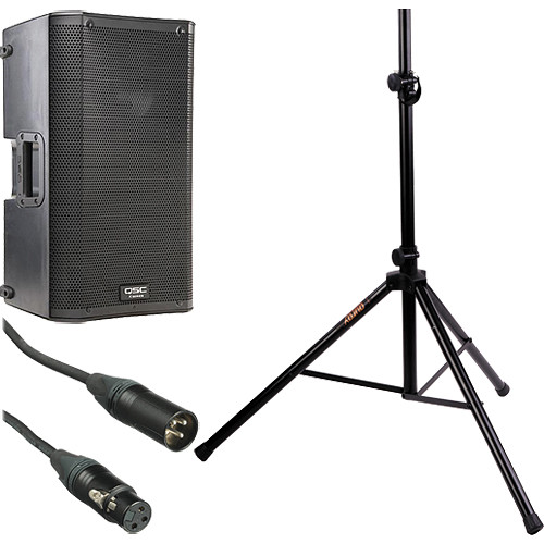 "QSC K10 10"" 2-Way 1000 Watt Powered Speaker Kit with Stand"