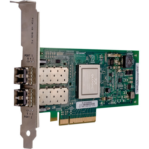 Q-Logic 2500 Series QLE2562 Dual Port PCIe to 8 Gbps Fibre Channel Adapter