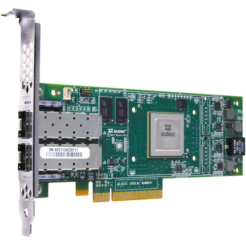Q-Logic 8200 Series Dual Port 10 Gbps Ethernet to PCIe CNA with Transceiver