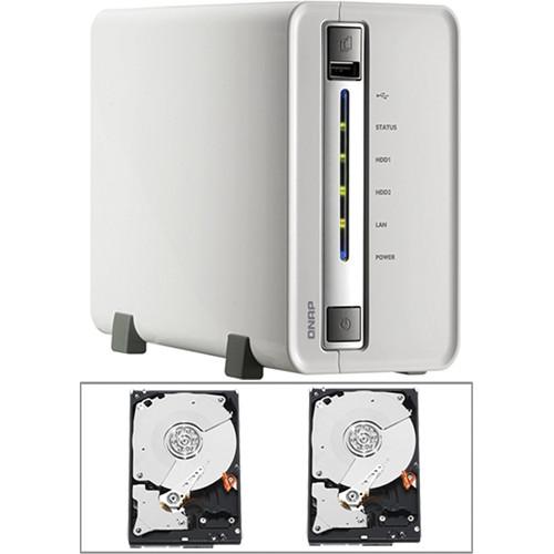 QNAP 4TB (2 x 2TB) Qnap 2-Bay Turbo NAS Hard Drive Enclosure Kit with Hard Drives
