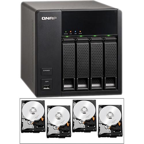 QNAP 8TB (4 x 2TB) TS-412 Turbo NAS Server Kit with Hard Drives
