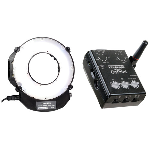 Quantum Instruments Omicron OM3 TTL Flash and Video Light with CoPilot Wireless TTL Flash Controller for Canon Kit