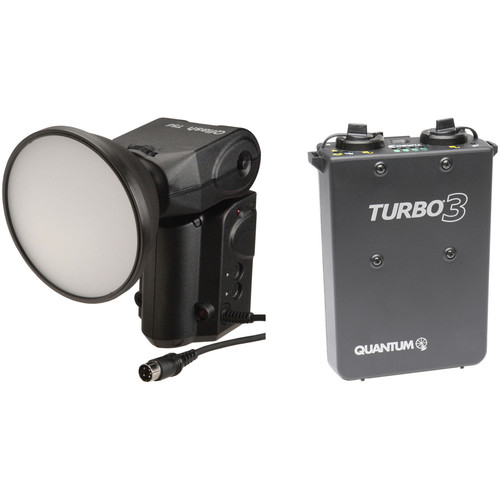 Quantum Instruments Qflash T5D-R TTL Flash w/ Turbo 3 Rechargeable Battery Kit