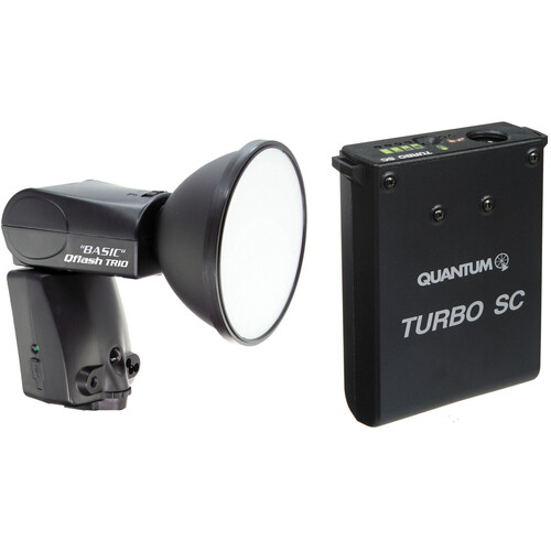 Quantum Instruments Qflash TRIO Basic Flash Kit with Turbo SC Battery Pack for Canon Cameras