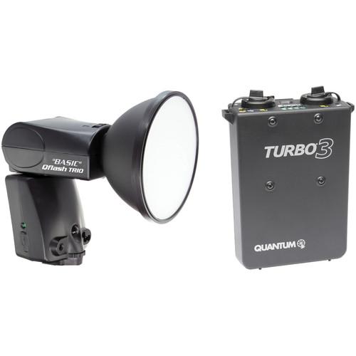 Quantum Instruments Qflash TRIO Basic Flash Kit with Turbo 3 Battery Pack for Nikon Cameras