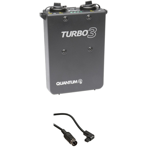 Quantum Instruments Turbo 3 Rechargeable Battery w/ CD1 Cable Kit