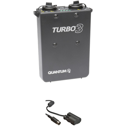 Quantum Instruments Turbo 3 Rechargeable Battery w/ CD30 Cable Kit