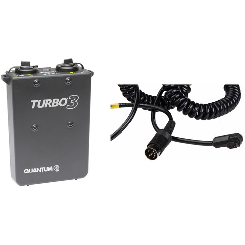 Quantum Instruments Turbo 3 Rechargeable Battery w/ SD10 Cable Kit