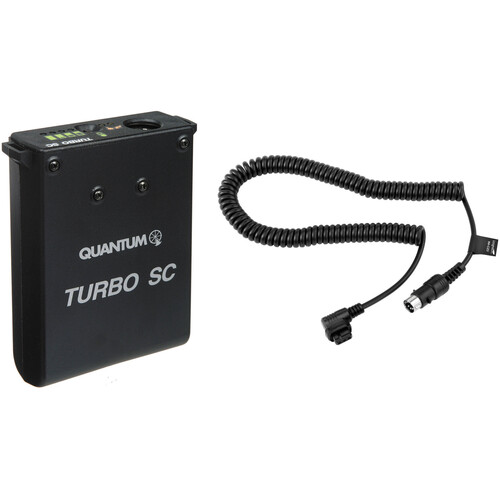 Quantum Instruments Turbo SC Slim & Compact Battery Pack Kit, with 100/240 VAC Universal Charger & CZ Dedicated Flash Cable: for Canon 430EZ, 480G, 540EZ, 550EX, 580EX, 580EX II, MT-24EX & MR-14EX Flashes