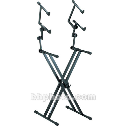 QuikLok QL-623 X-Style Double Brace Three-Tier Heavy Duty Keyboard Stand