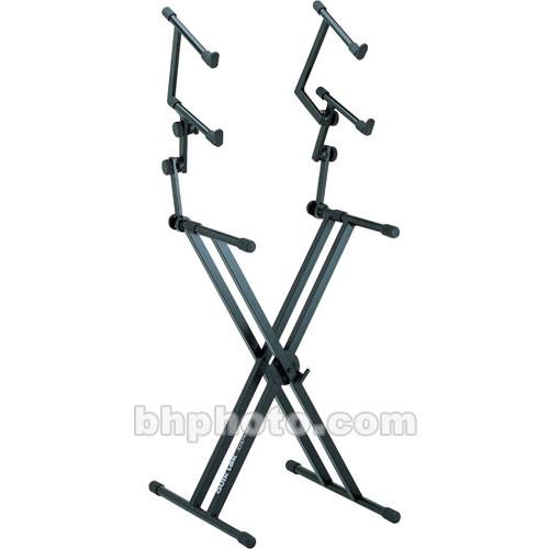 QuikLok QL-623 X-Style Double Brace Three-Tier Heavy Duty Keyboard Stand