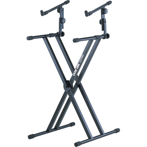 QuikLok QL-642 X-Style Double Brace Two-Tier Heavy Duty Keyboard Stand