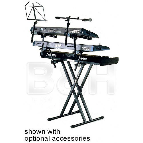 QuikLok QL-746 X-Style Single Tier Double-Brace Pro Series Keyboard Stand