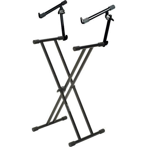 QuikLok T-22  Double Braced 2-Tier Adjustable Keyboard Stand