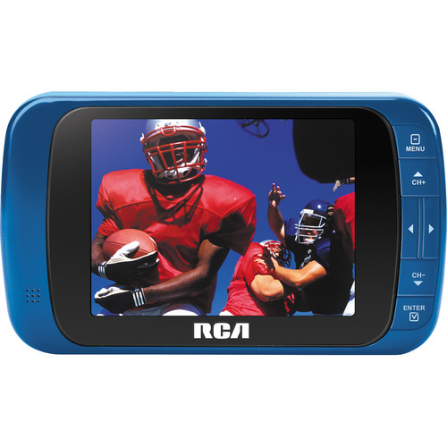 "RCA 3.5"" LED Portable Digital TV (Blue)"