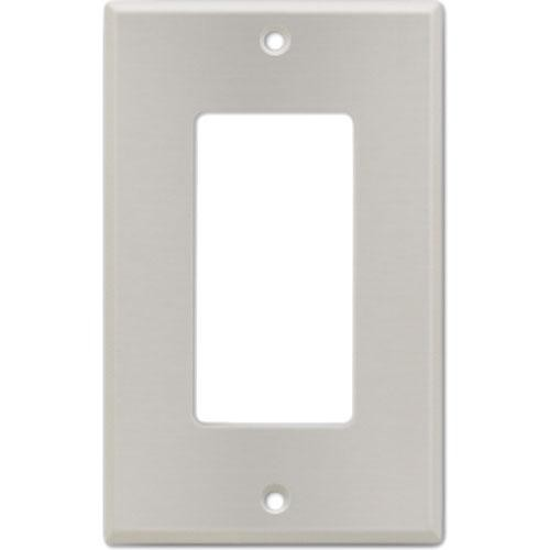 RDL CP-1S Stainless Steel Single Cover Wall Plate (Silver)