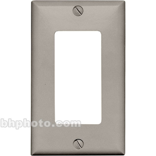 RDL CP-1G Single Cover Wall Plate (Gray)