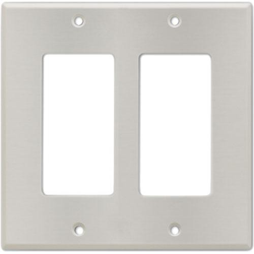 RDL CP-2S Stainless Steel Double (Side-by-Side) Cover Wall Plate (Silver)