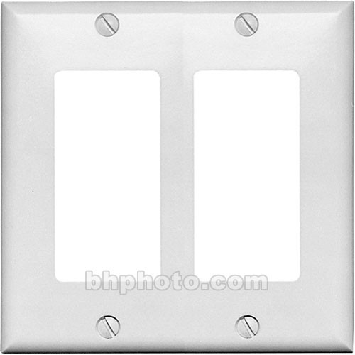 RDL CP-2W Double (Side-by-Side) Cover Wall Plate (White)