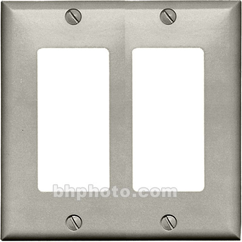 RDL CP-2G Double (Side-by-Side) Cover Wall Plate (Gray)