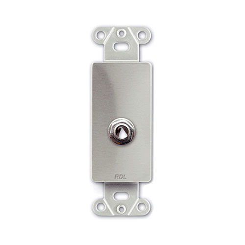 """RDL DS-1/4F - 1/4"""" Phone Jack D Plate (Stainless Steel)"""