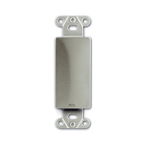 RDL DS-Blank - Blank D-Style Plate (Stainless Steel)