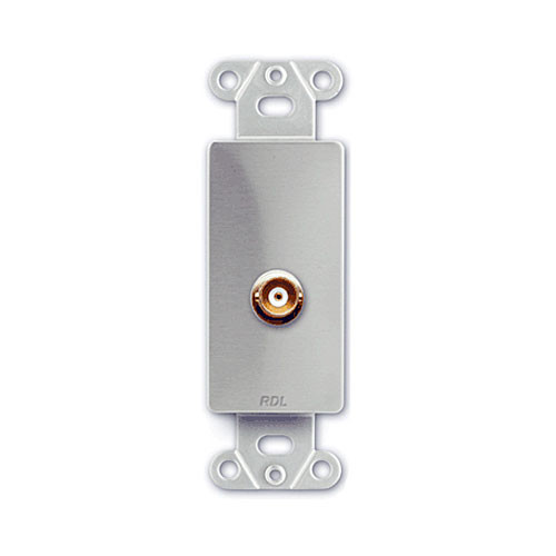 RDL DS-BNC - BNC Jack D-Style Plate (Stainless Steel)