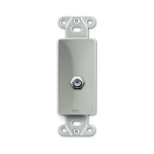 RDL DS-F - Double-Type F Jack D-Style Plate (Stainless Steel)