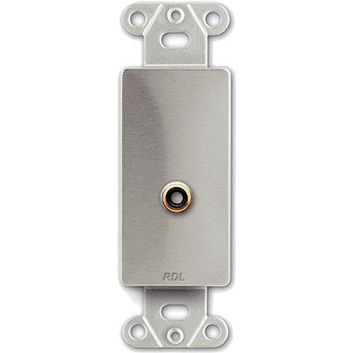 RDL DS-PHN1 Single RCA Jack on Decora Wall Plate - Solder Type
