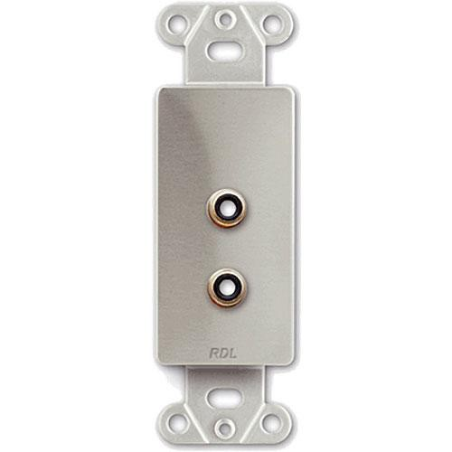 RDL DS-PHN2  Dual RCA Jack on Decora Wall Plate - Solder type