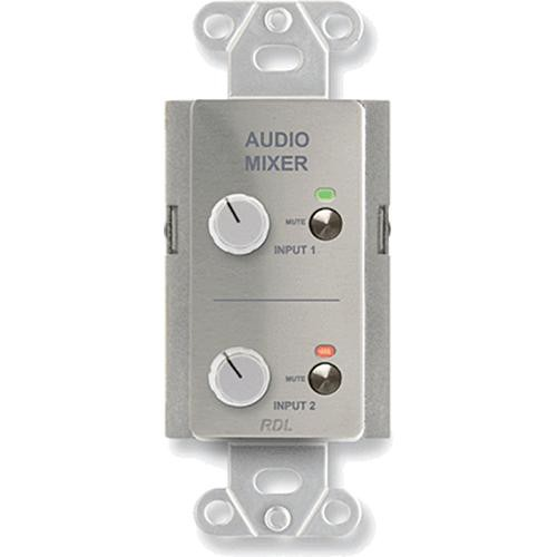 RDL DS-RC2M Audio Mixing Remote Control with Muting (Stainless Steel)