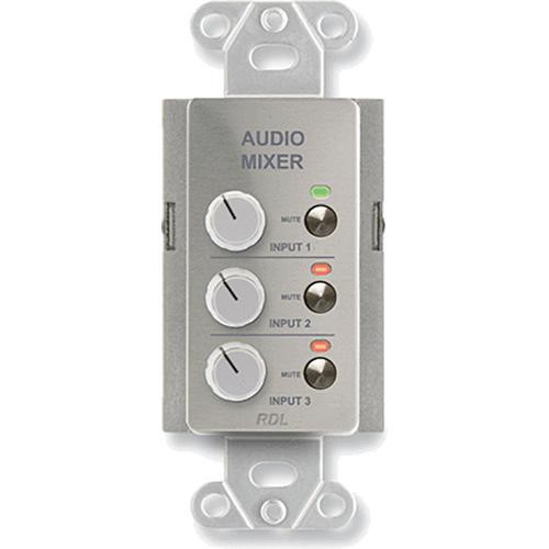 RDL DS-RC3M Audio Mixing Remote Control with Muting (Stainless Steel)
