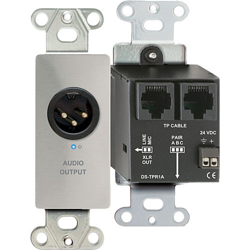 RDL DS-TPR1A Active Single Pair RJ45 Receiver Module (Silver)