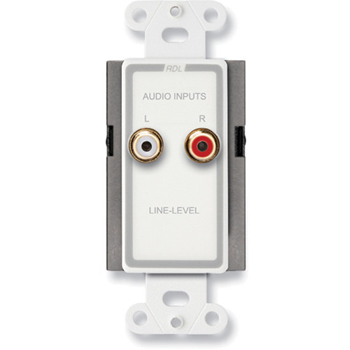 RDL D-J2 Wall Mount RCA Line-Level Input Panel