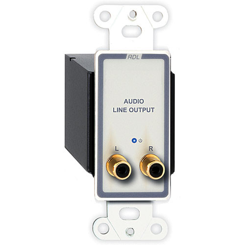 RDL D-TPR2A Active RCA Stereo Audio Output over Dual RJ45 Receiver Module (White)
