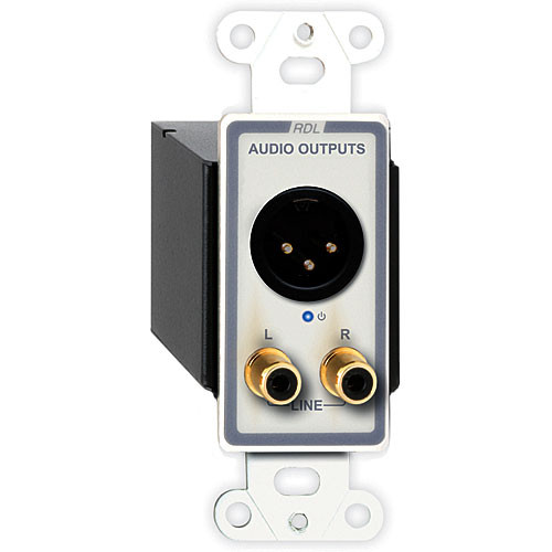 RDL D-TPR3A Active Triple Pair XLR and RCA Stereo Audio Output over RJ45 Receiver Module (White)