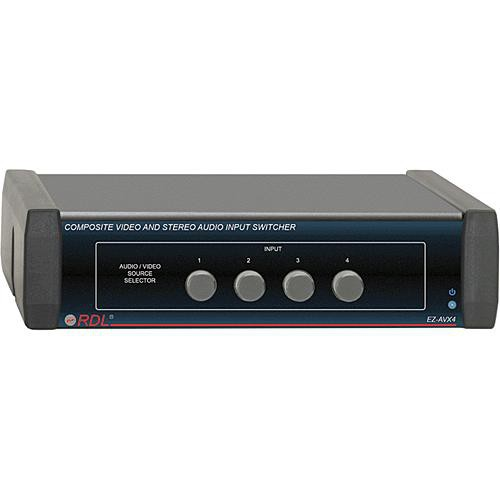 RDL EZ-AVX4  4-Channel Composite Video and Audio Switcher
