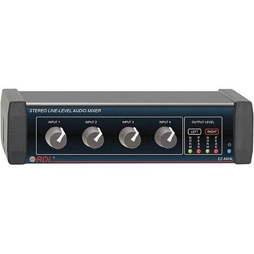 RDL EZ-MX4L Stereo 4-Channel Line-Level Mixer