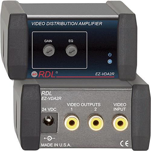 RDL EZ-VDA2R  1x2 Composite Distribution Amplifier (RCA)